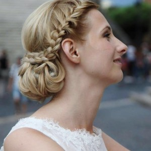 rome wedding hair and makeup in italy