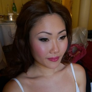 Korean japanese wedding makeup and hair style in hotel in Rome italy