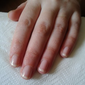 Natural manicure in Rome Italy