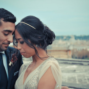 wedding photoshoot hair and makeup in Rome italy