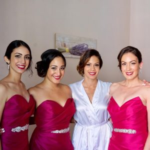 latin american wedding hair and makeup in rome italy