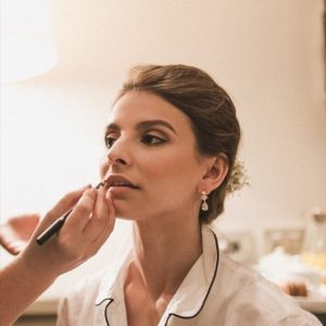 Luxury wedding makeup and hairstyling in Rome
