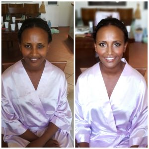 dark skin makeup and hairstylist in rome and italy