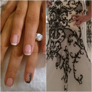 ROME WEDDING MANICURE NAIL ART IN ITALY