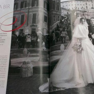 Rome wedding in Martha Steward wedding magazine