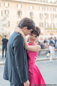 Rome prewedding hair and makeup photoshoot in Rome italy