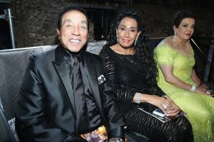 makeup and hair styling for celebrities Frances Robinson and singer Smokey Robinson in rome celebrity fight nigt Andrea Bocelli show