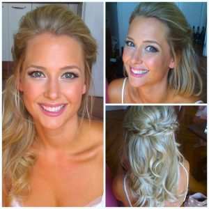 Natural Flawless looking wedding makeup and hairstyling in Rome italy