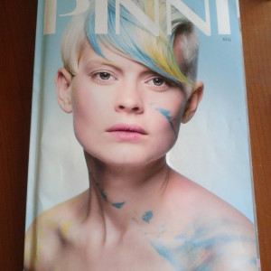 Janita Helova in PINNI hair magazine Finland