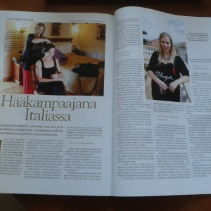 Janita Helova in Pinni hair magazine