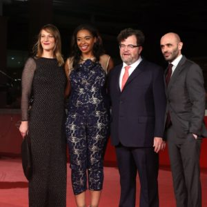 red carpet hair and makeup in rome film festival