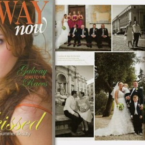 Rome wedding by Janita Helova in GALWAY NOW magazine IRELAND