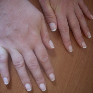 french manicure for weddings in rome