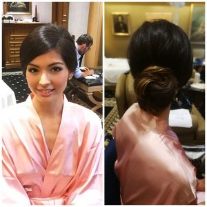 Hair and makeup in Rome for Asian model Nicole Soper