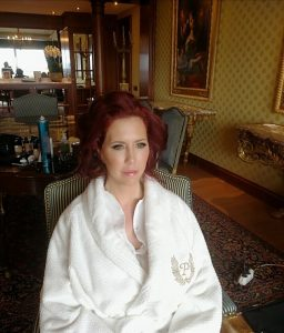vip client hair and makeup styling in Rome
