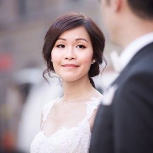 Korean Japanese asian wedding and pre wedding makeup and hairstyle for photo shoot in rome italy