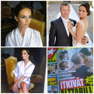 VIP CELEBRITY WEDDING HAIR AND MAKEUP FORFerrari Formula driver Kimi Räikkönen and Minttu Räikkönen