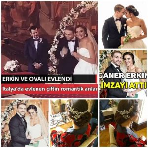 Celebrity weddings in Rome italy. Actress Sukran Ovali and football player Caner Erkin in Rome styled by Janita